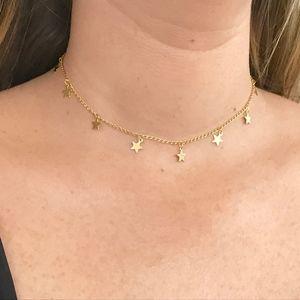 gold star brandy melville choker necklace!